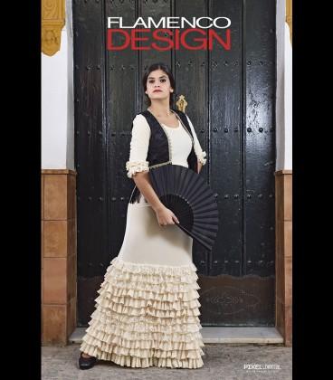 Flamenco skirt for show modell minifrills velvet