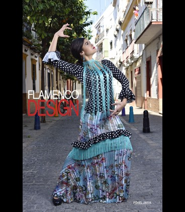Falda de flamenco profesional Plisada /modelo 12 fleco Special Edition