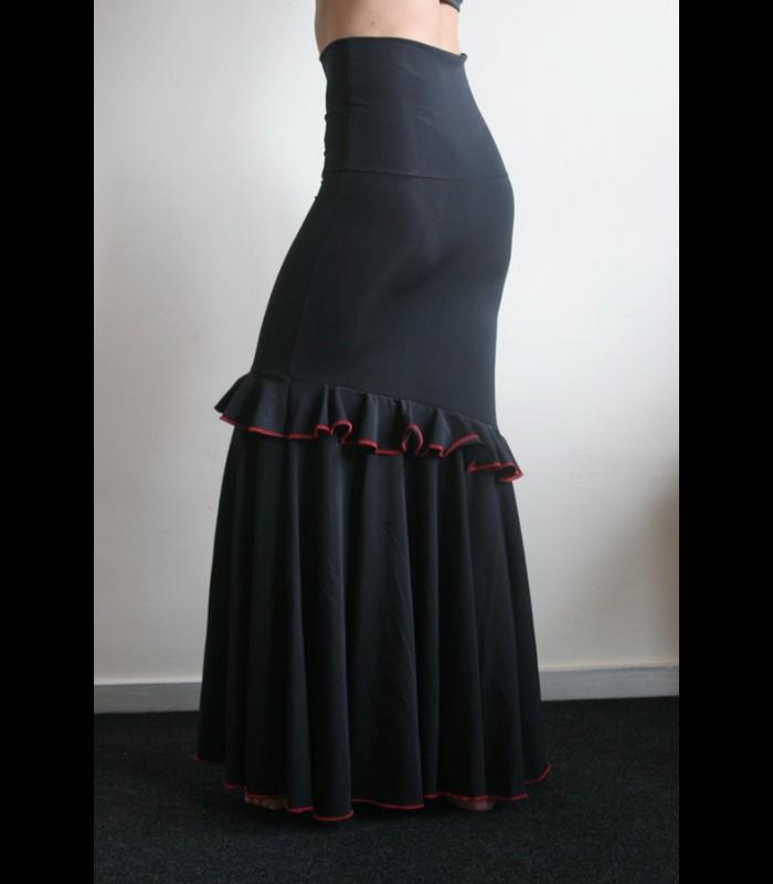43f9aa273 Falda flamenca de ensayo modelo Fiona lycra fina