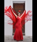 Professional flamenco dress, modell Yerbabuena lycra