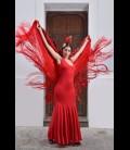 Vestido de flamenco profesional ,Yerbabuena lycra