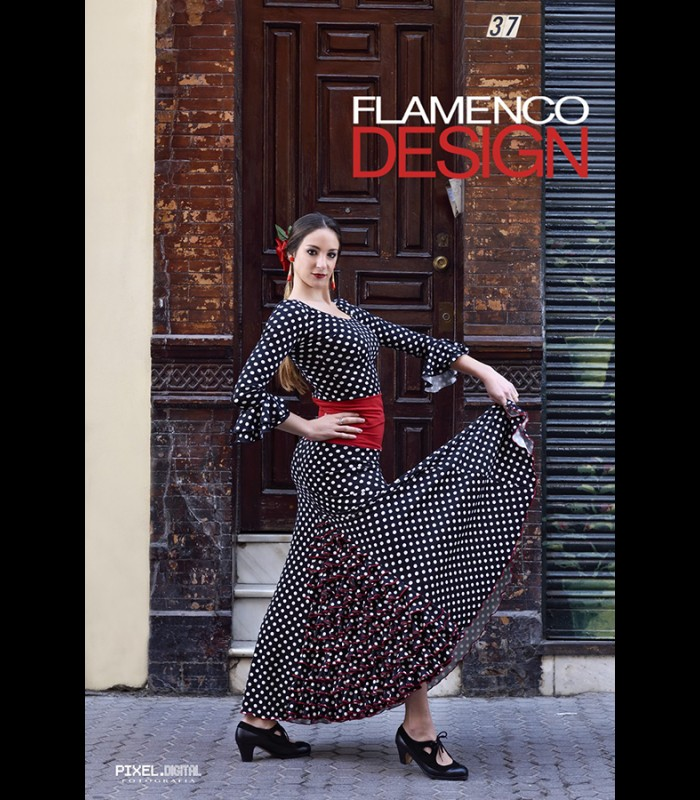 84bb7acbe Falda flamenca profesional Modelo 7 lunares