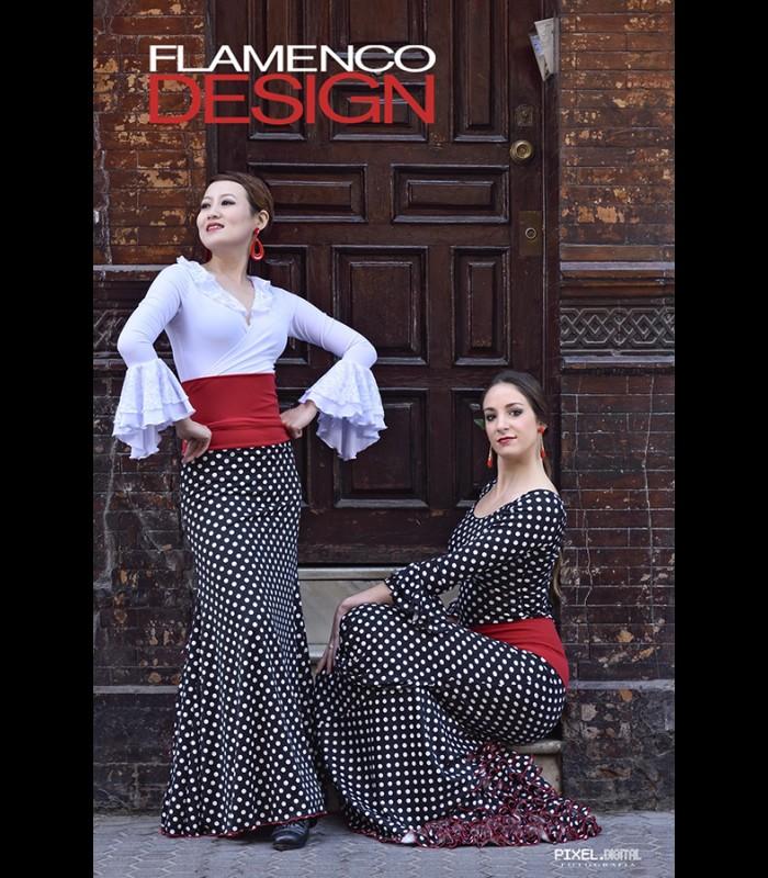 e9891e2b6 Falda flamenca profesional Modelo 7 lunares - Flamencodesign