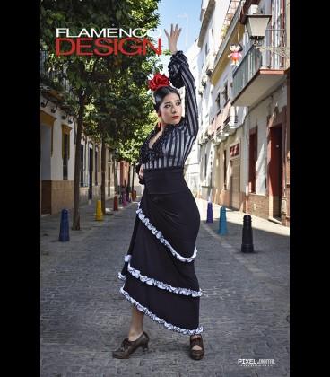 Falda de flamenco profesional modelo 12 rush lycra