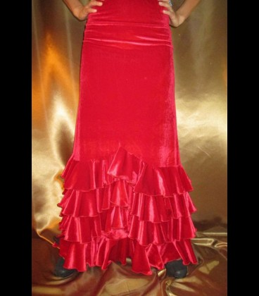 Falda flamenca profesional modelo Sol terciopelo