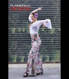 Profesional Flamenco Skirt Minivolantes Special edition rose
