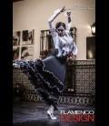Falda de flamenco para espectaculo modelo 17 lycra
