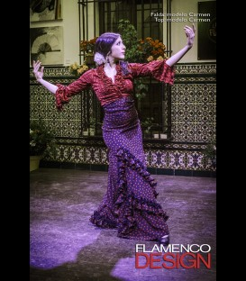 Profesional Flamenco Skirt modell Carmen black and red