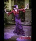 Profesional Flamenco Skirt modell Carmen black and red