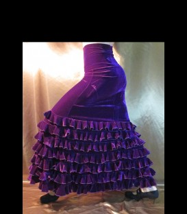 Profesional Flamenco Skirt alegrias velvet purple