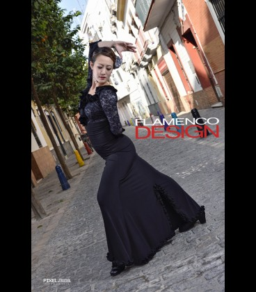 Flamenco skirt Modell 9 rush lycra
