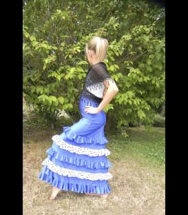 Falda flamenca para ninas modelo 3/A