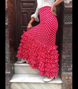 Profesional Flamenco Skirt alegrias polcadots