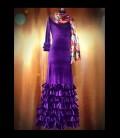 Vestido de flamenco profesional alegrias terciopelo