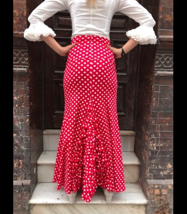 Professional flamenco skirt Modell 7 lycra