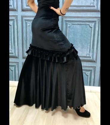 Professional flamenco skirt modell 3/a velvet