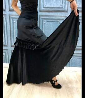 Falda de flamenco profesional modelo Fiona terciopelo