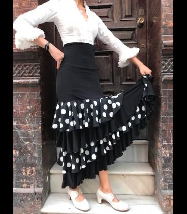 Falda Flamenca profesional Modelo Tulipan lycra-encaje