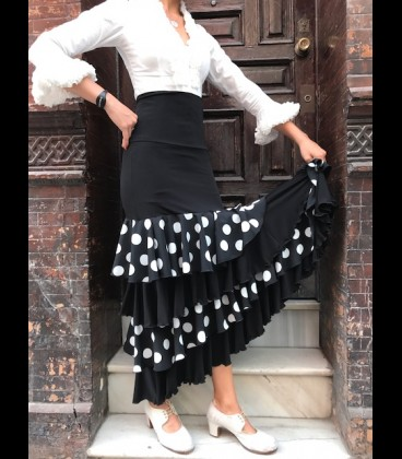Profesional Flamenco Skirt modell Tulipan Lycra and lace