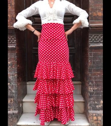 Falda Flamenca profesional Modelo Tulipan lunares