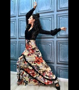 Falda de flamenco profesional modelo Carmen flores