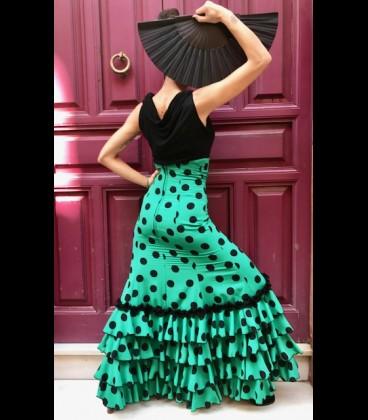 Falda flamenca profesional modelo Carmensol