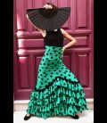 Falda de flamenco profesional modelo Carmensol verde