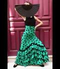 Profesional Flamenco Skirt modell Carmensol green