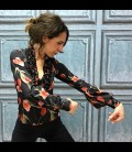 Blusa flamenca Carmen Tulipán Negro