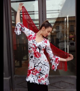 Tunic flamenco flower