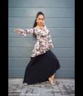 Tunic flamenco sepia