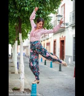 Pantalon de flamenco para ensayo flores