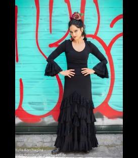 Conjunto de flamenco prodfesional Modelo amanecer lycra