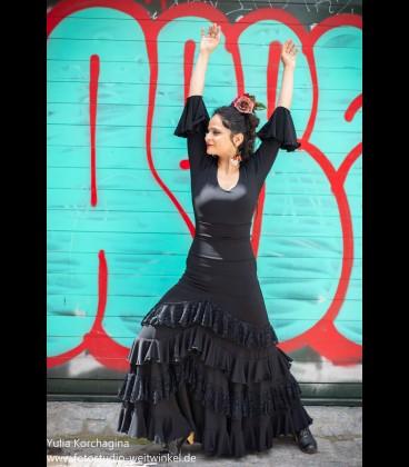 Conjunto de flamenco prodfesional Modelo SOL 5 volant lycra