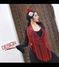 Crochet para bailar con fleco rojo