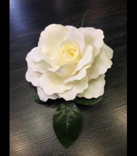 Flor flamenca beige claro