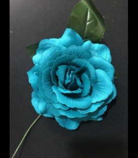 Flamenco flower in blue color