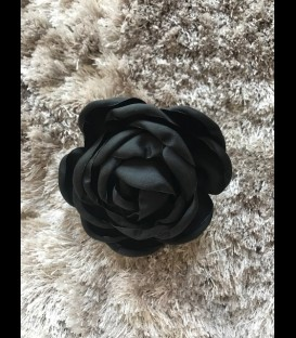 Flamenco flower in black color
