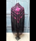 Semi-professional flamenco dancing shawl in color black