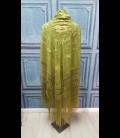 Mantón de seda para bailar en color verde pistacho (semi-profesional)