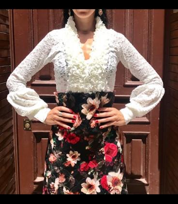 Blusa flamenca Carmen bombache encaje