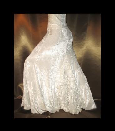 Falda de flamenco profesional modelo 7 terciopelo