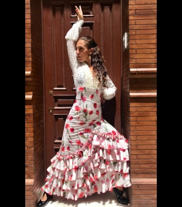 Profesional Flamenco Skirt modell Carmensol tulipan