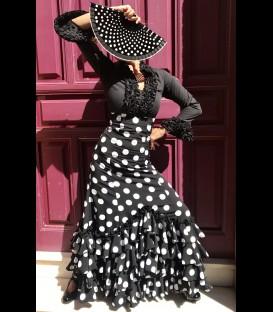 Profesional Flamenco Skirt modell Carmensol blackandwhite