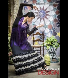 Falda flamenco profesional modelo minivolantes lycra-crespon