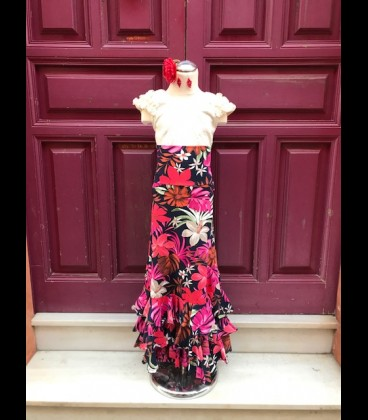 Falda flamenca niña modelo SOL flores ECO