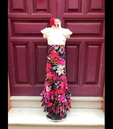 Flamenco skirt for girls SOL flowers ECO