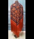 Flamenco dancing shawl professional black with orange