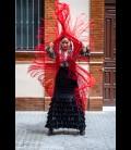 Profesional Flamenco Skirt alegrias velvet black