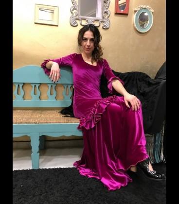 Professional flamenco dress, modell Fiona rush pink velvet